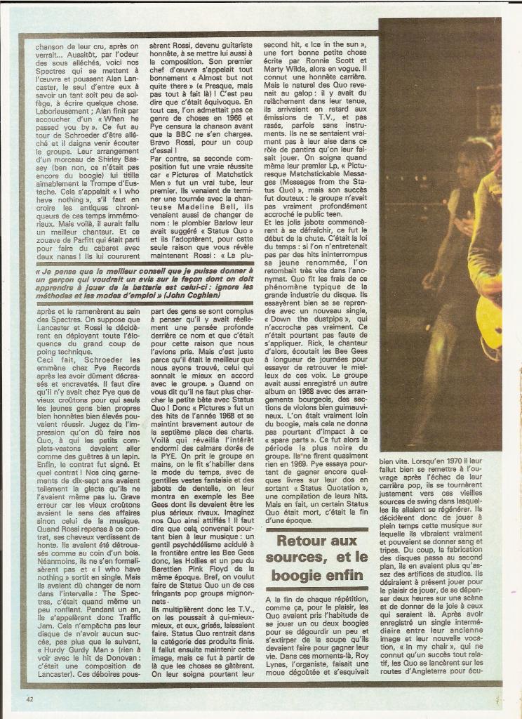 STATUS QUO dans BEST 98 Septembre 76 (archive) Quo_4-10