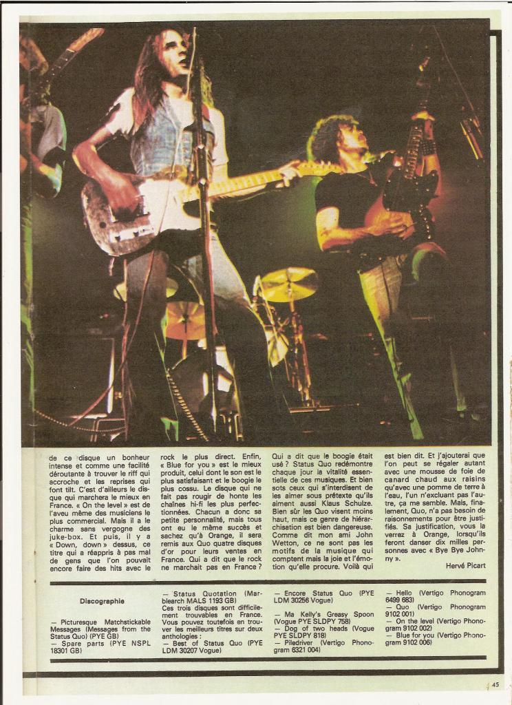 STATUS QUO dans BEST 98 Septembre 76 (archive) Quo_7-10