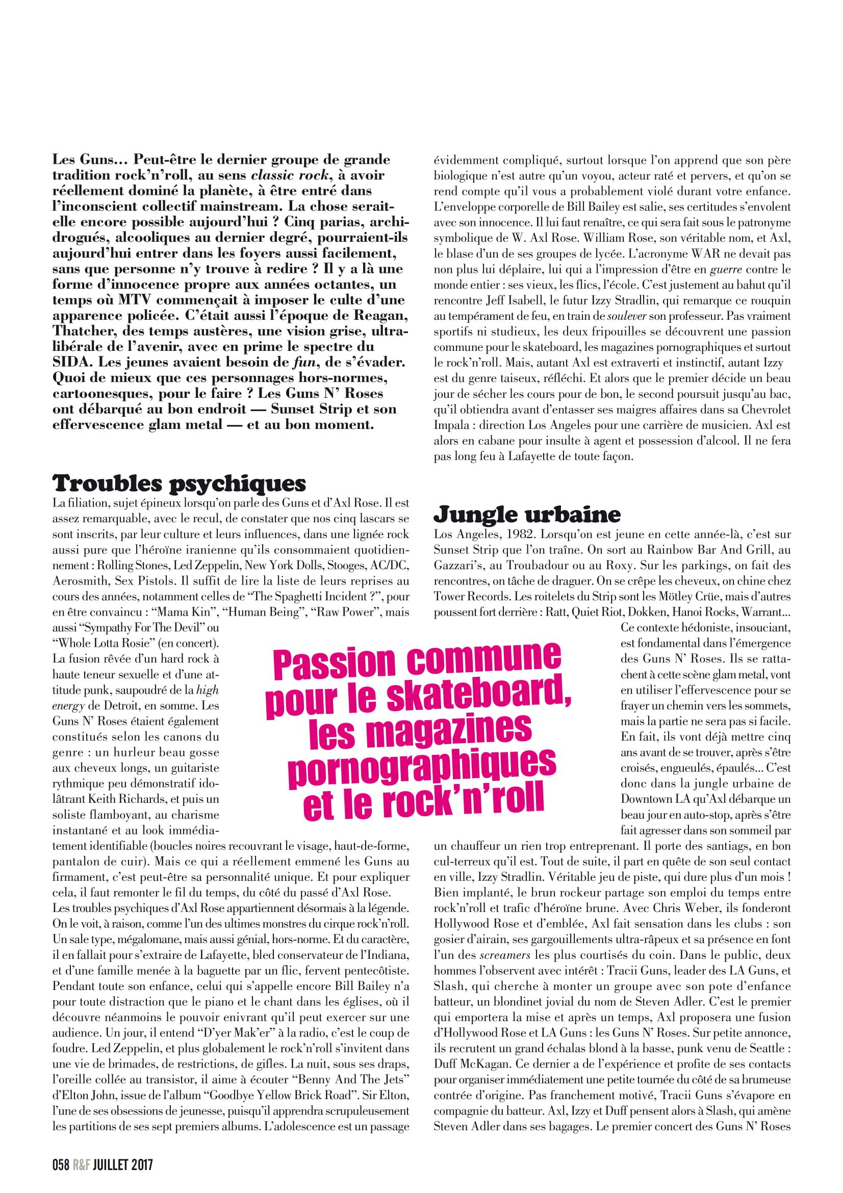 GUNS N'ROSES ROCK N'FOLK N°599 Juillet 2017 (Archive à lire) Rock_f12