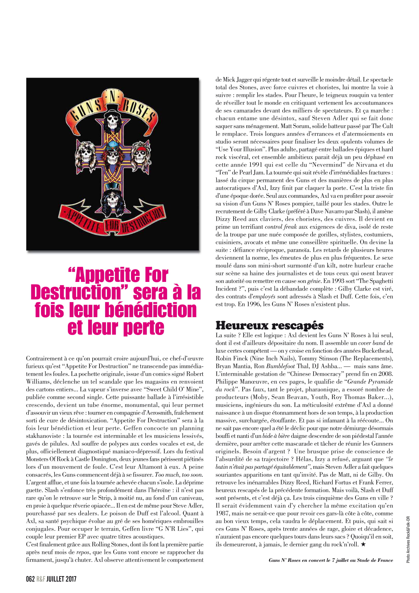 GUNS N'ROSES ROCK N'FOLK N°599 Juillet 2017 (Archive à lire) Rock_f17