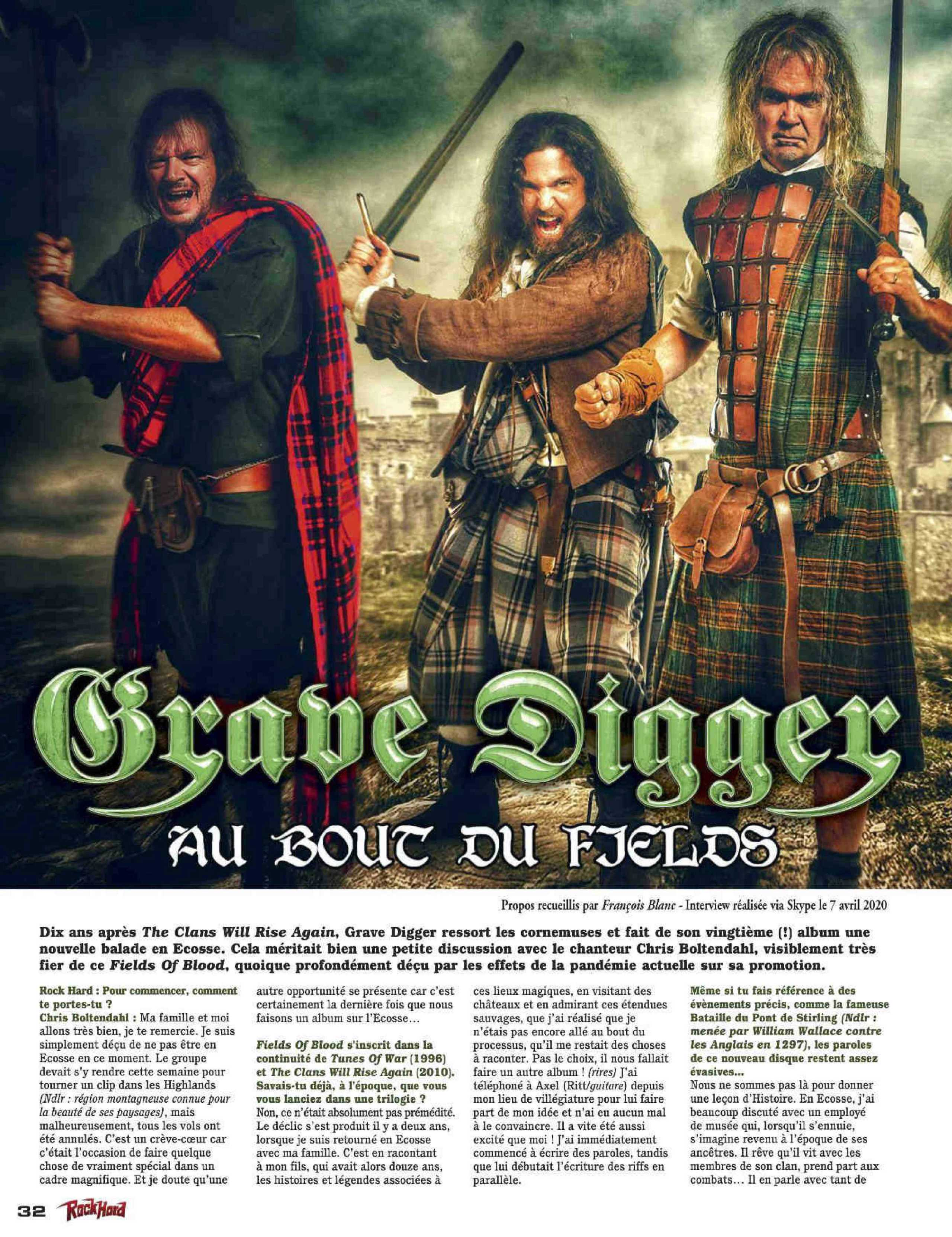 GRAVE DIGGER Fields of Blood (2020) Heavy/Power Metal ALLEMAGNE Rock_h17