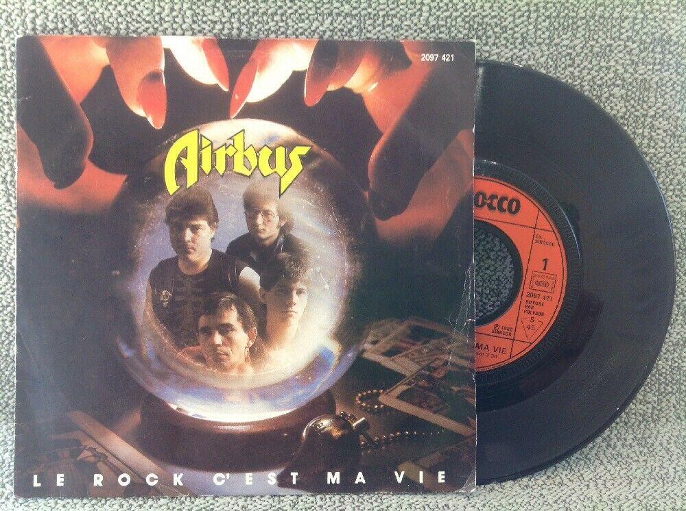 Retour en arrière avec AIRBUS Le rock c'est ma vie (1982) Hard-Rock Nantes  S-l16013