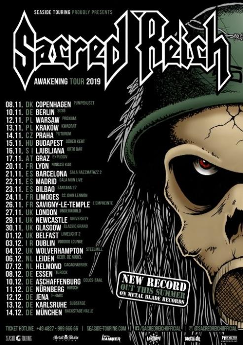 SACREID REICH annonce une tournée européenne en 2019 ... Sacred10