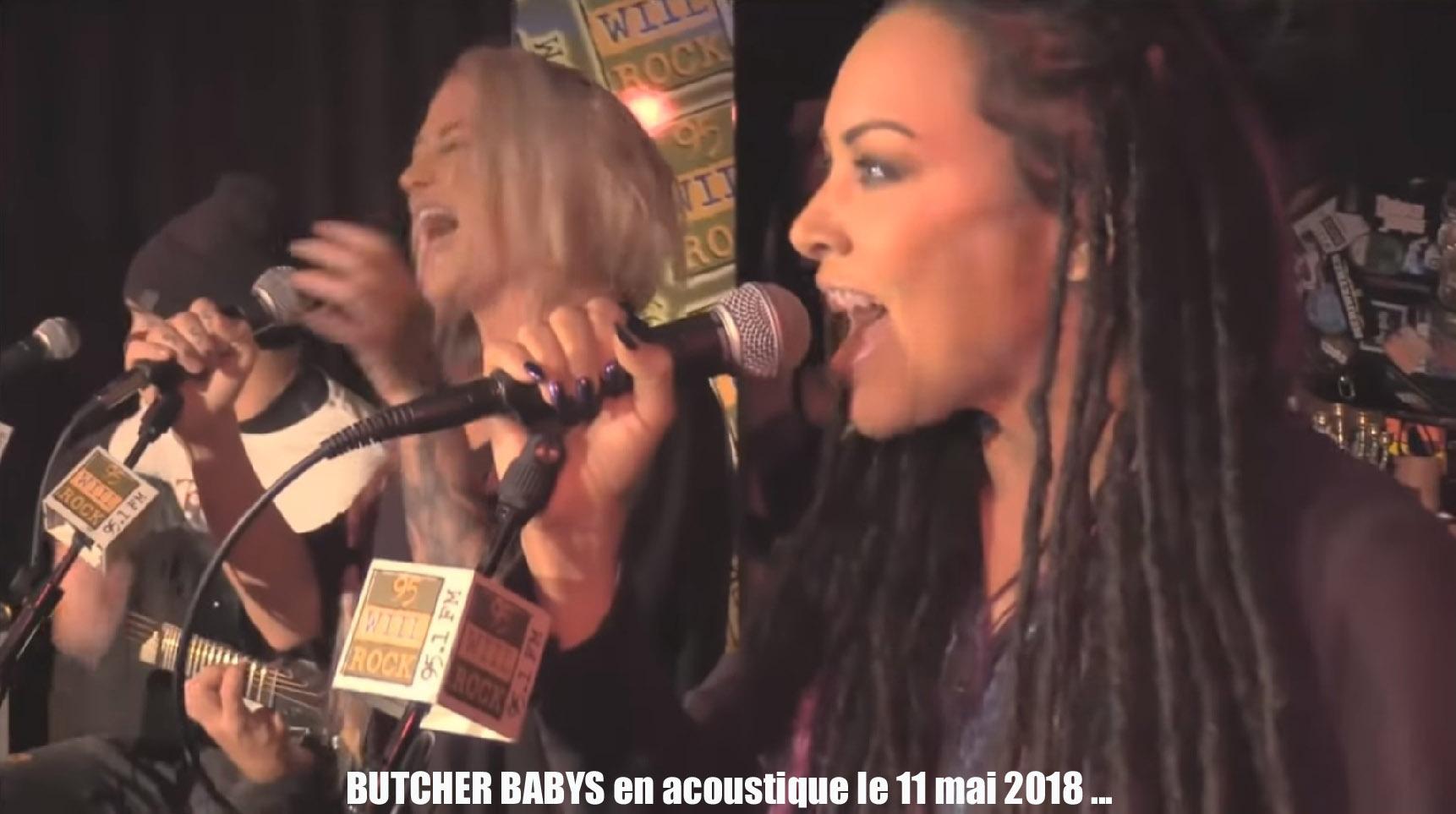 BUTCHER BABIES Studio East Lullaby's (Acoustic Performance) le 11 mai 2018 ...  Sans_110