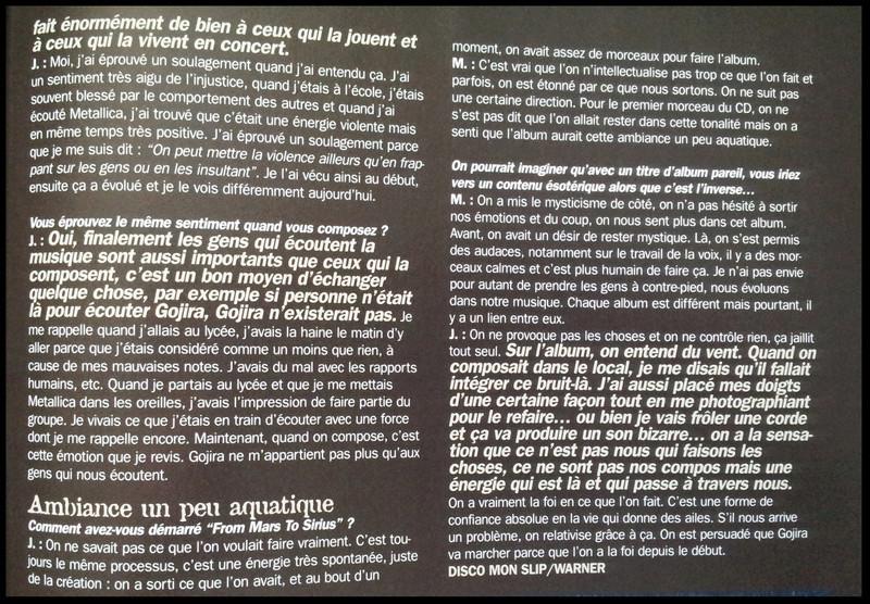 Interview GOJIRA Rock On n°14 OCTOBRE 2005 (archive) Sans_188