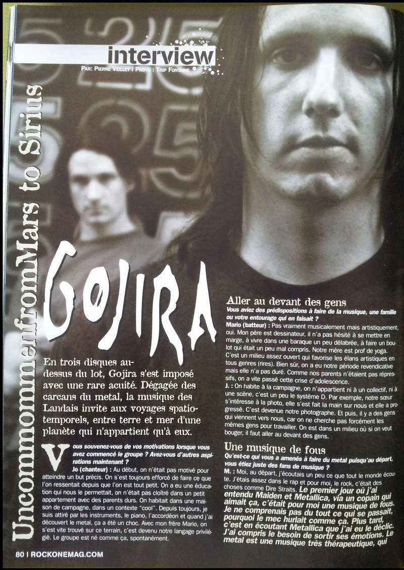 Interview GOJIRA Rock On n°14 OCTOBRE 2005 (archive) Sans_189