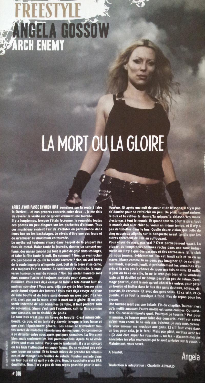 Interview ANGELA GOSSOW dans Tracks (Archive) Voix off en français. Sans_191