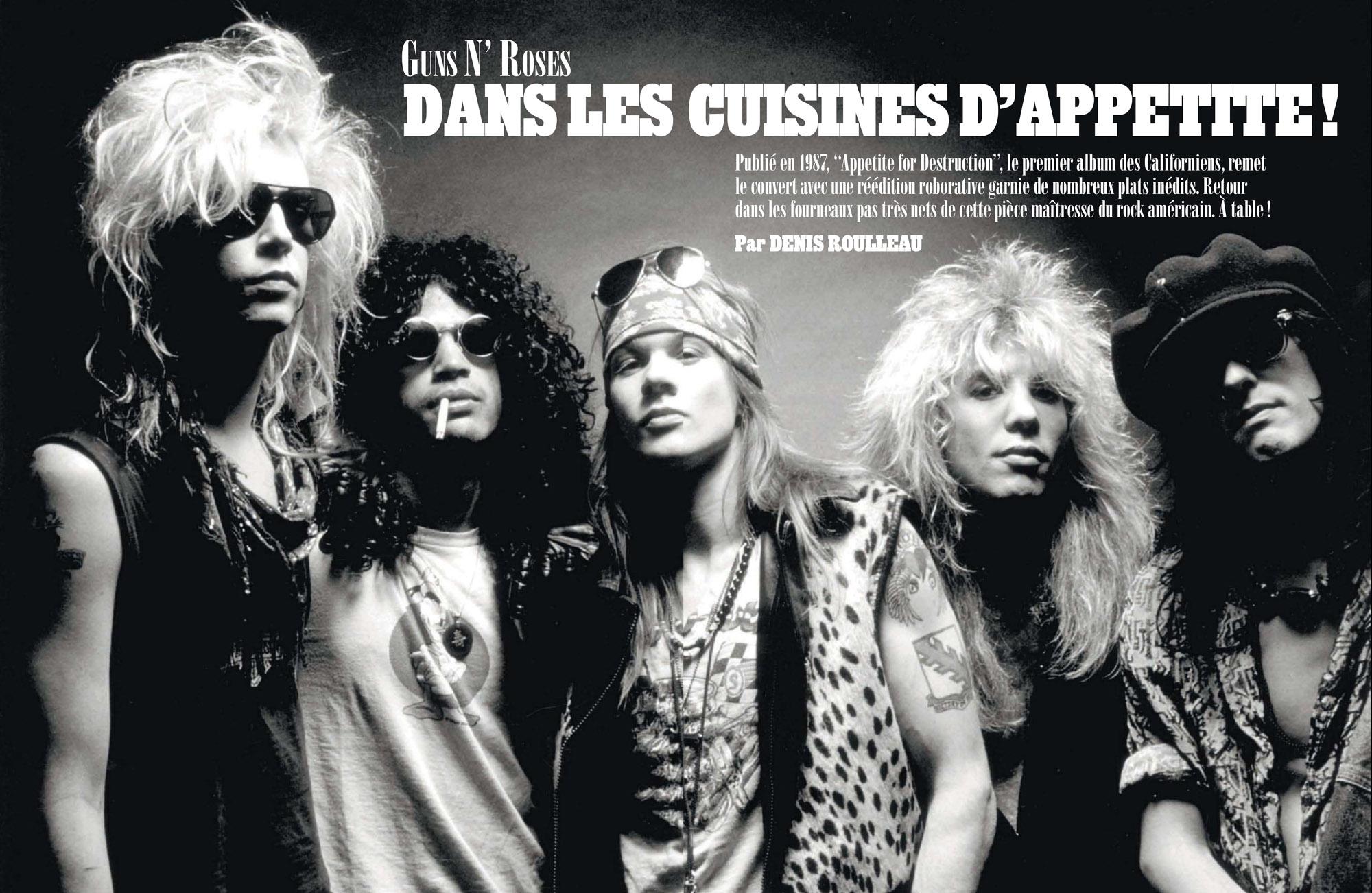 GUNS N'ROSES Dans les cuisines d'APPETITE (article dans Rolling Stone) Archive à lire Sans_204