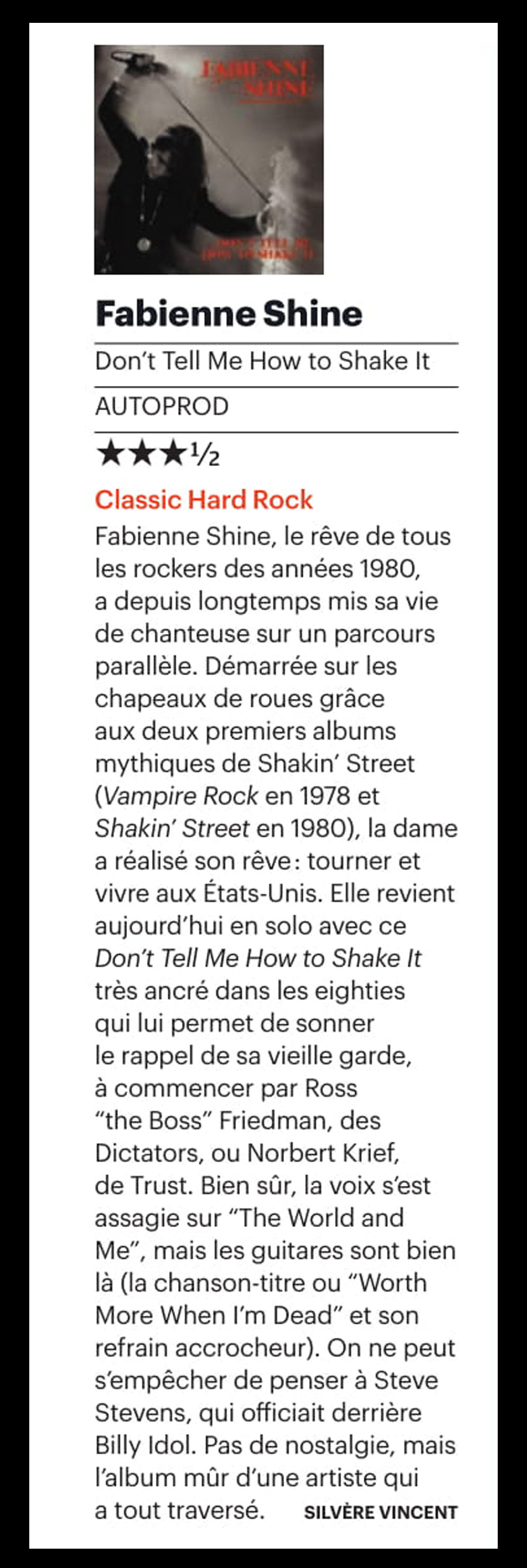 FABIENNE SHINE Don't Tell Me How To Shake It (2018) Archive  Sans_226