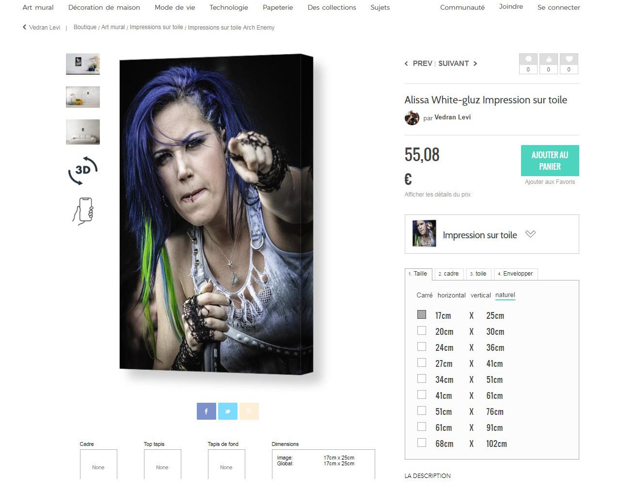 Impression sur toile ALISSA WHITE-GLUZ chez Napalm Records ! Sans_242