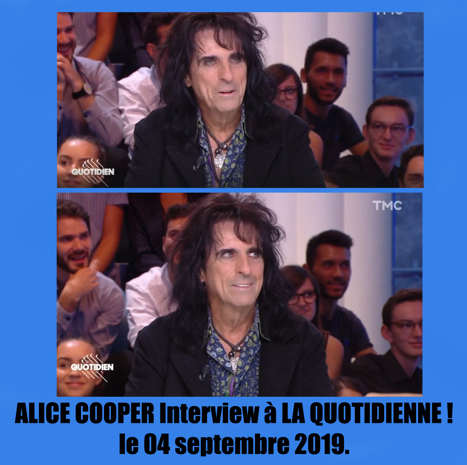 Interview ALICE COOPER à la Quotidienne le 04 septembre 2019 ... Sans_248