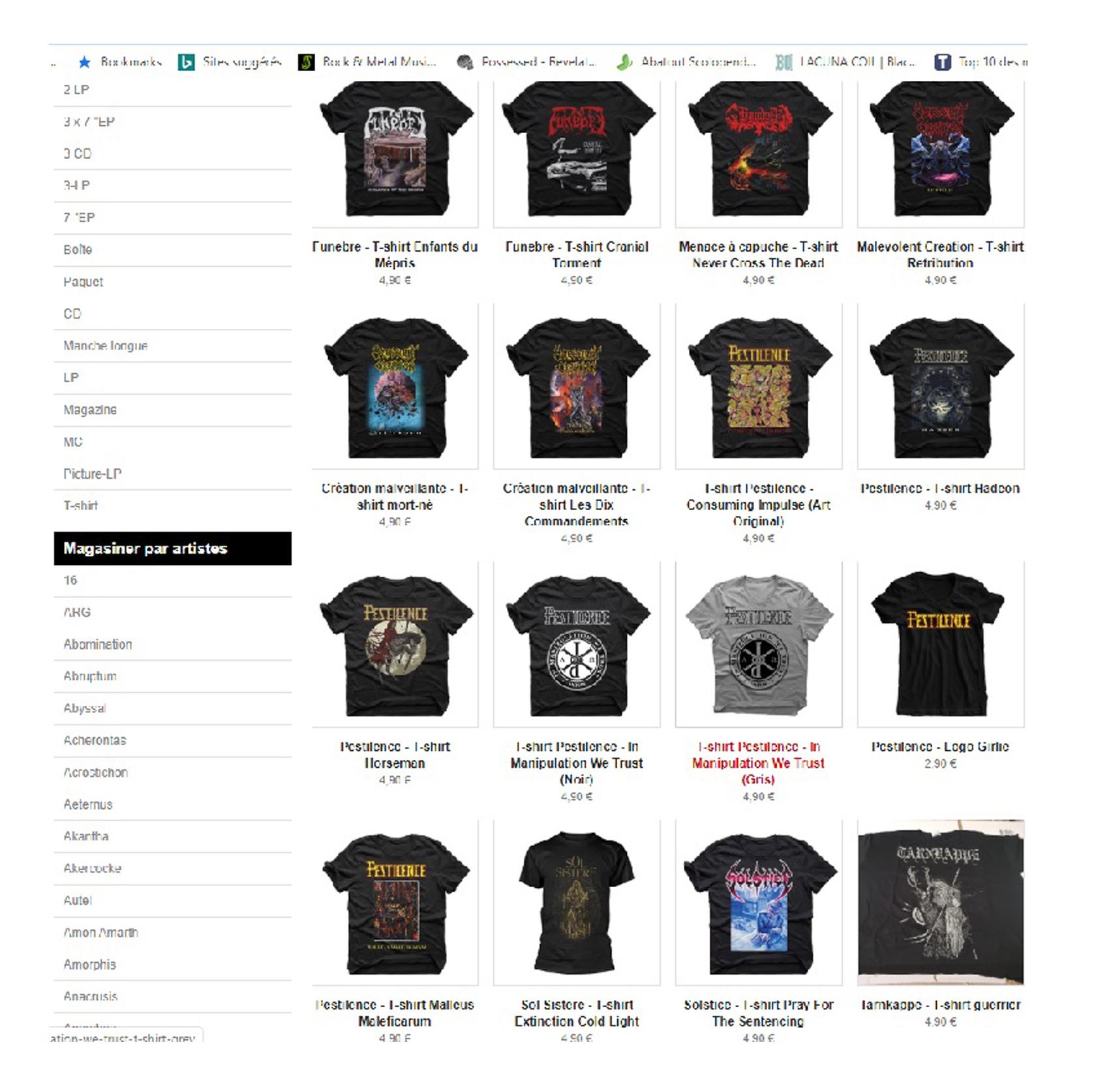 Vente de tee-shirts super pas cher chez HAMMERHEART records ... Sans_277