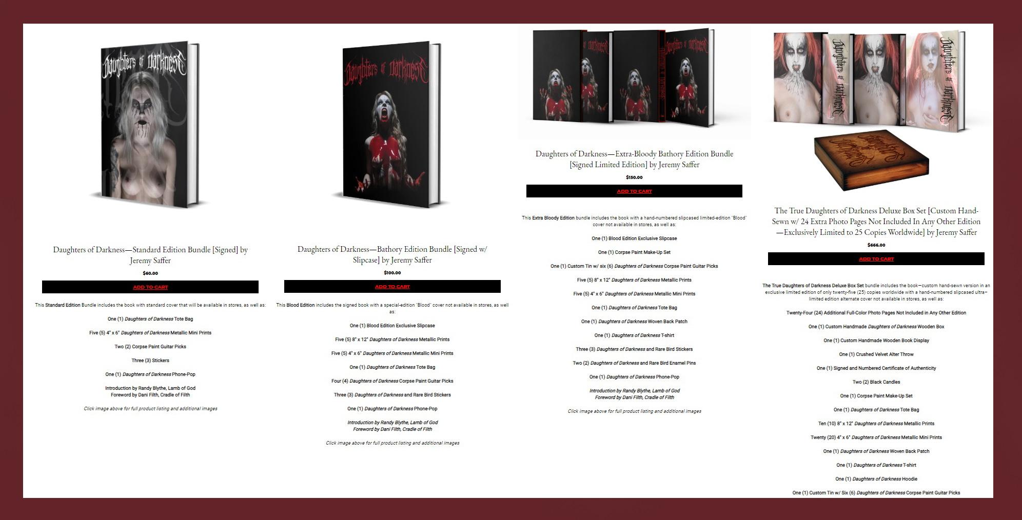DAUGHTERS OF DARKNESS (Black Metal) du photographe JEREMY SAFFER à la vente le 30 octobre 2020 ... Sans_278