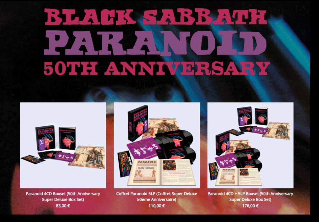"""Réédition de """"Paranoïd"""" de BLACK SABBATH pour son 50ème anniversaire ... Sans_318"""