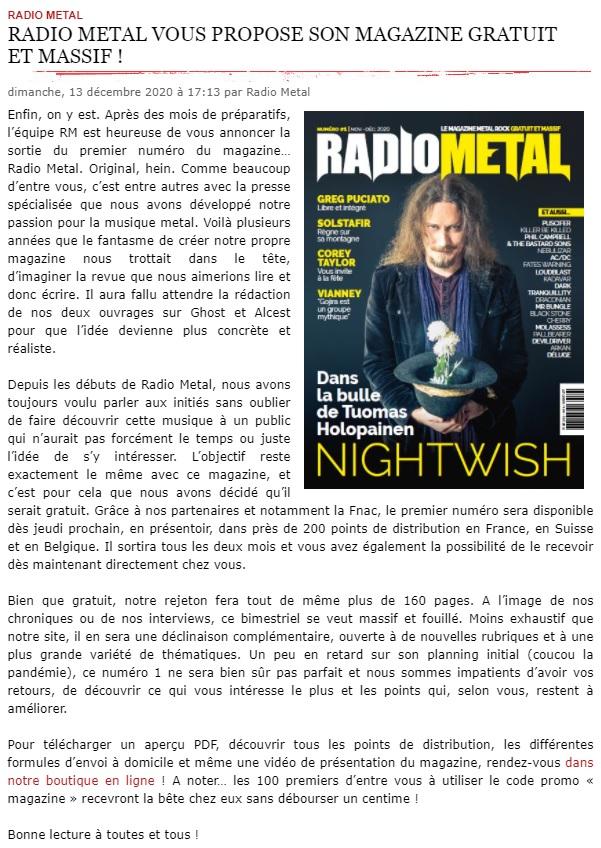 Abonnez-vous au Mag RADIO METAL : le numéro 1 est disponible ... Sans_327
