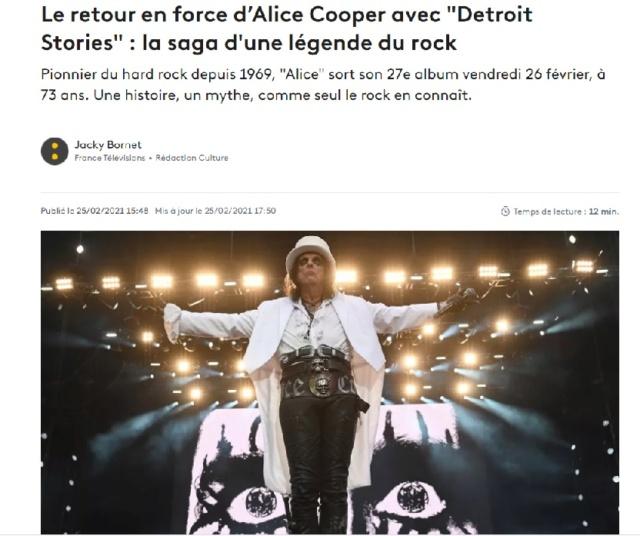 """ALICE COOPER  """" Detroit Stories """"  le 26 février 2021  Sans_332"""