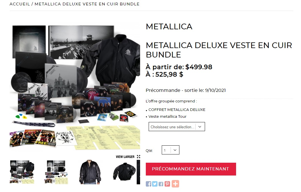 METALLICA - BLACK ALBUM 30th Anniversary Sans_339
