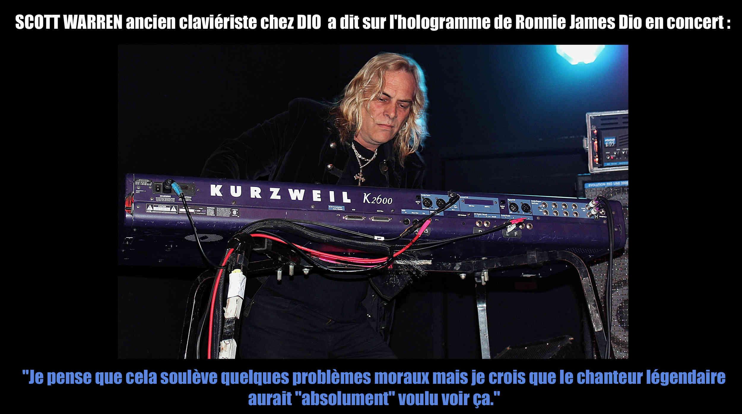 SCOTT WARREN (claviériste chez DIO) a dit sur l'hologramme de Ronnie James Dio ... Sans_t13