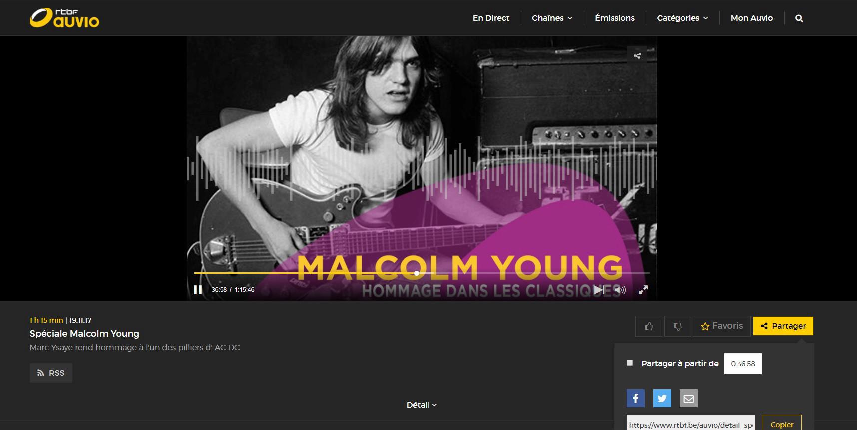 Emission radio rendant hommage à MALCOLM YOUNG ... Sans_t25