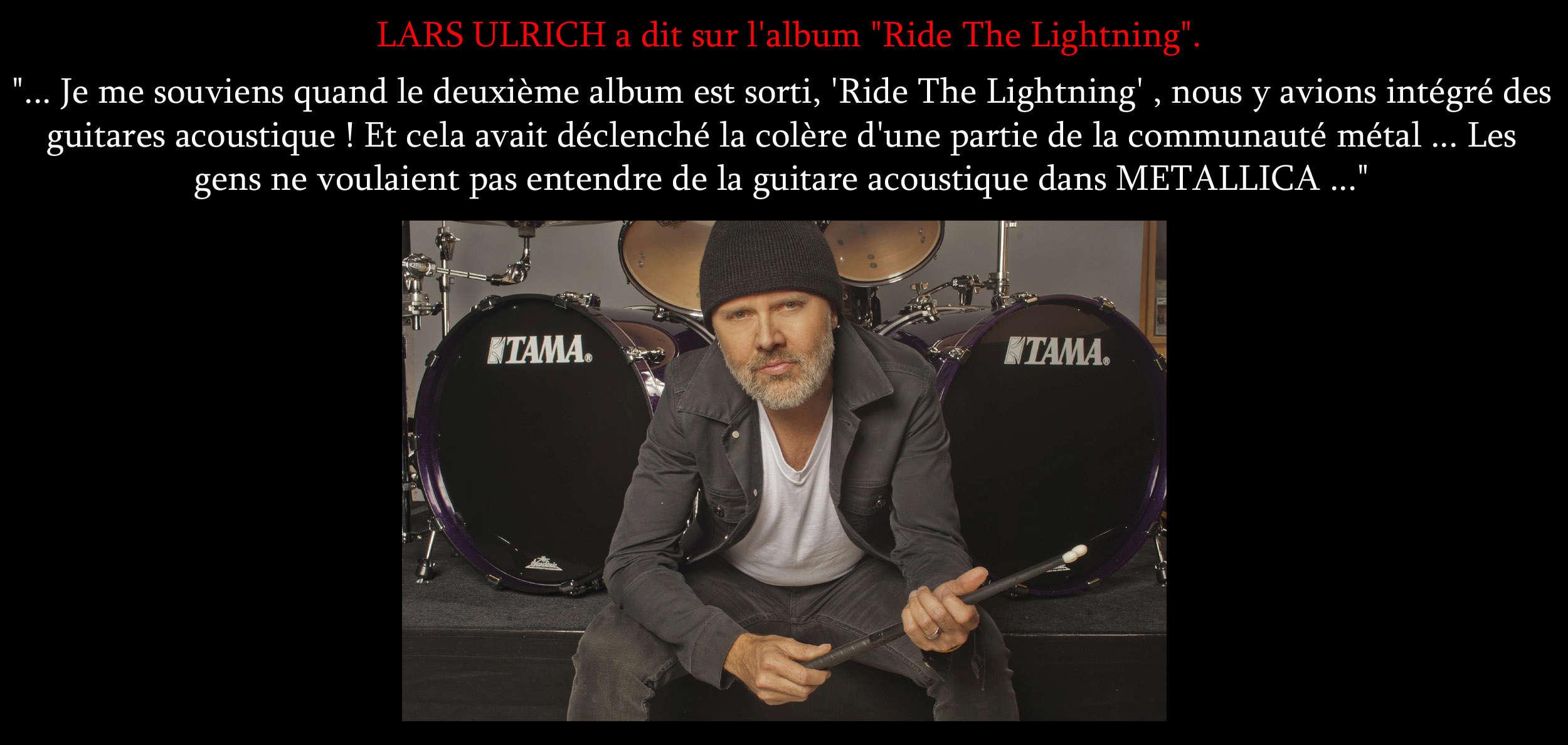 """LARS ULRICH a dit ... sur l'album """"Ride the Lightning"""" Sans_t37"""