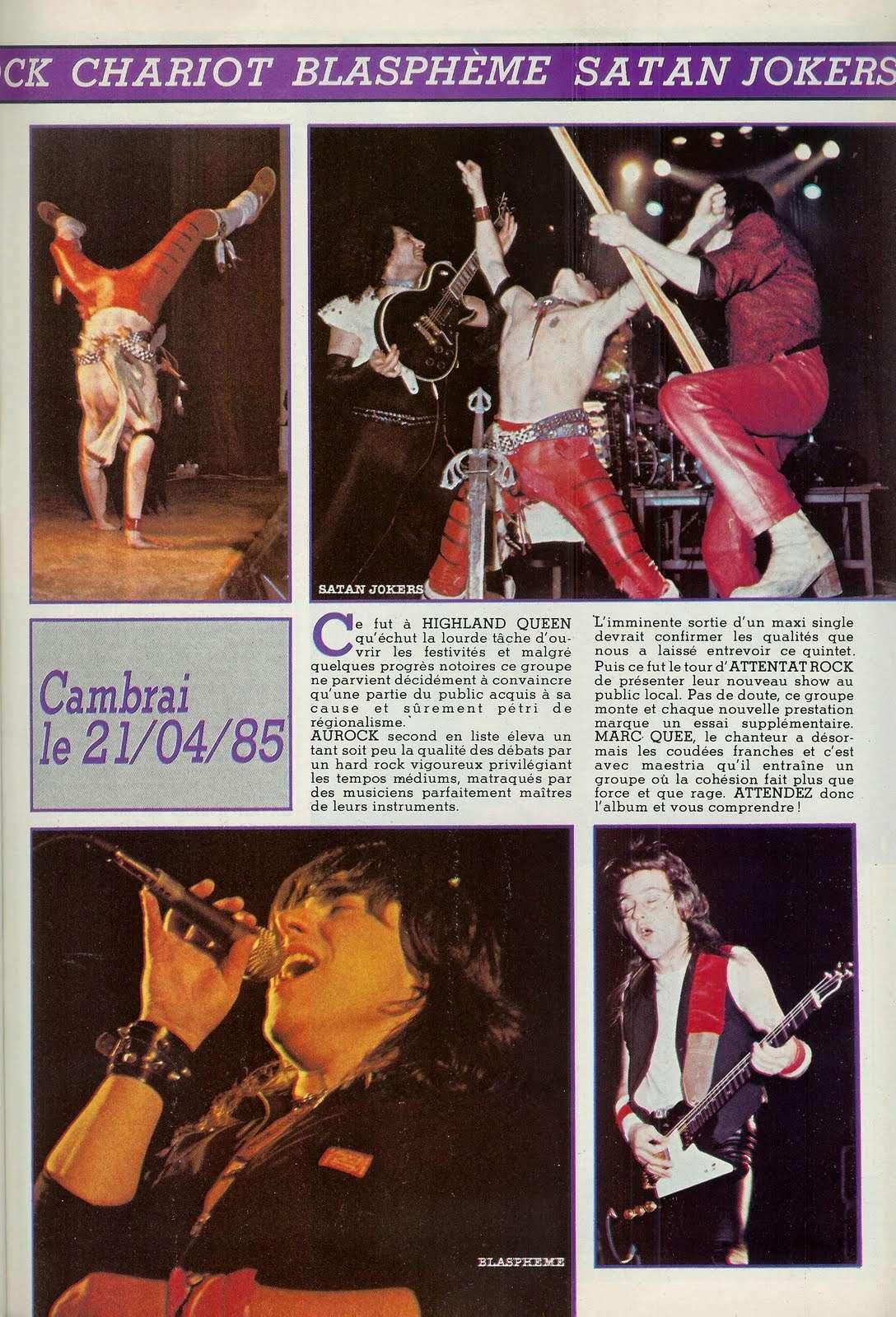 L'Endurock Festival (Cambrai) le 21 avril 1985 Archive Enfer Magazine Juin 1985  Scan0017