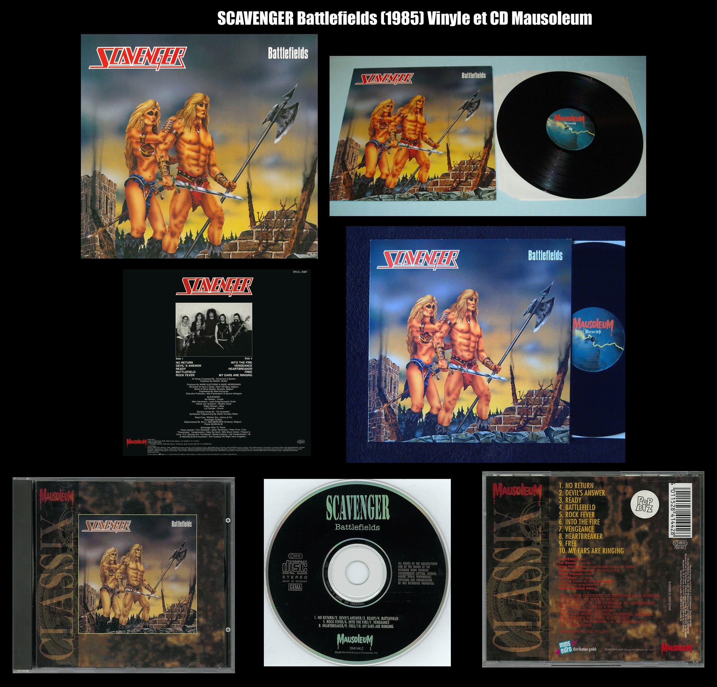 SCAVENGER Battlefields (1985) Heavy Metal Belgique Scaven10