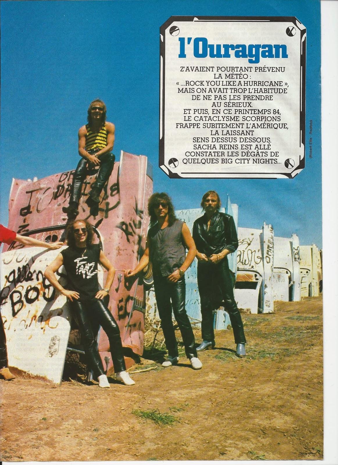 SCORPIONS L'ouragan (archive BEST Juillet 1984) Scorpi14