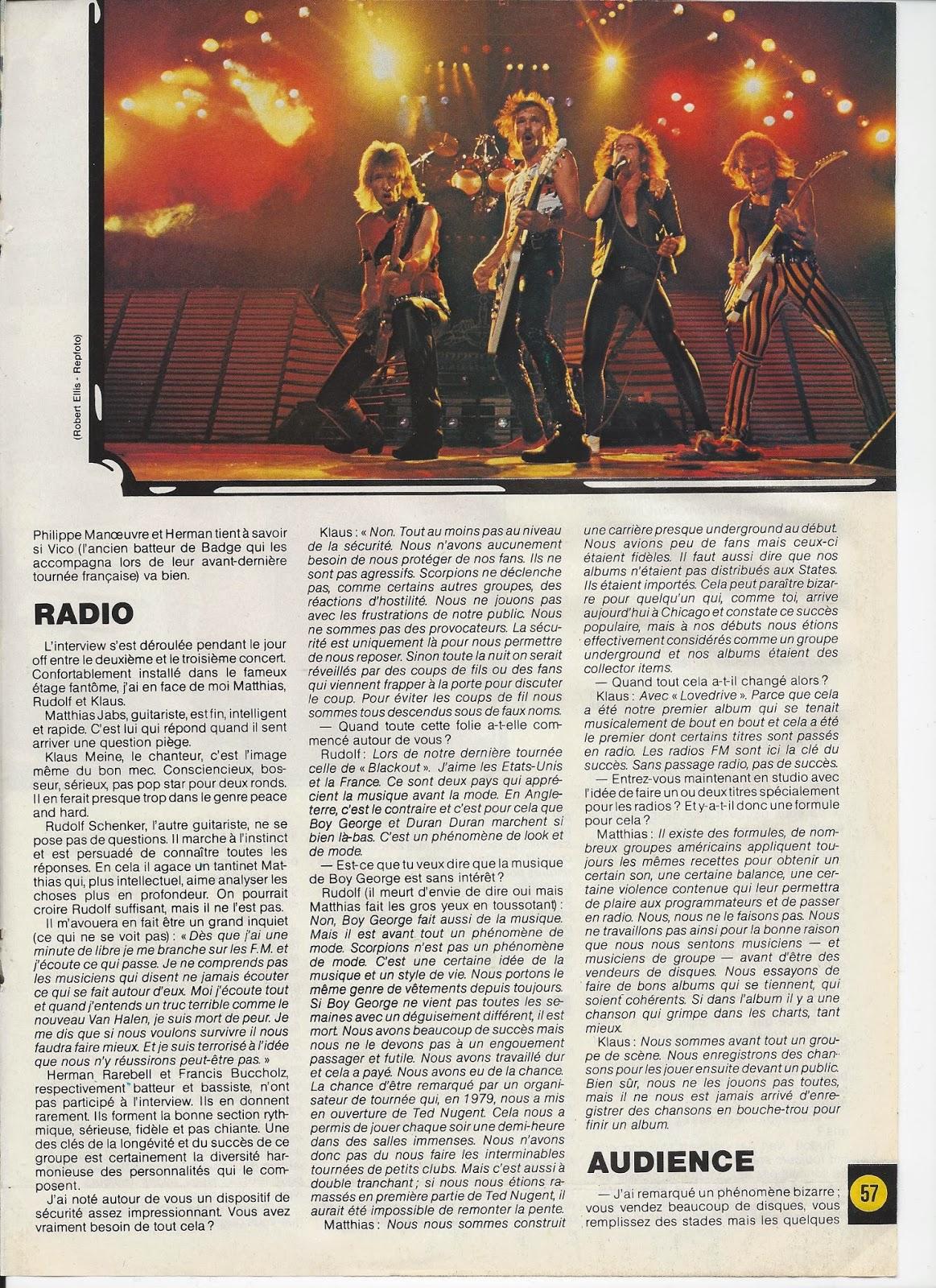SCORPIONS L'ouragan (archive BEST Juillet 1984) Scorpi15