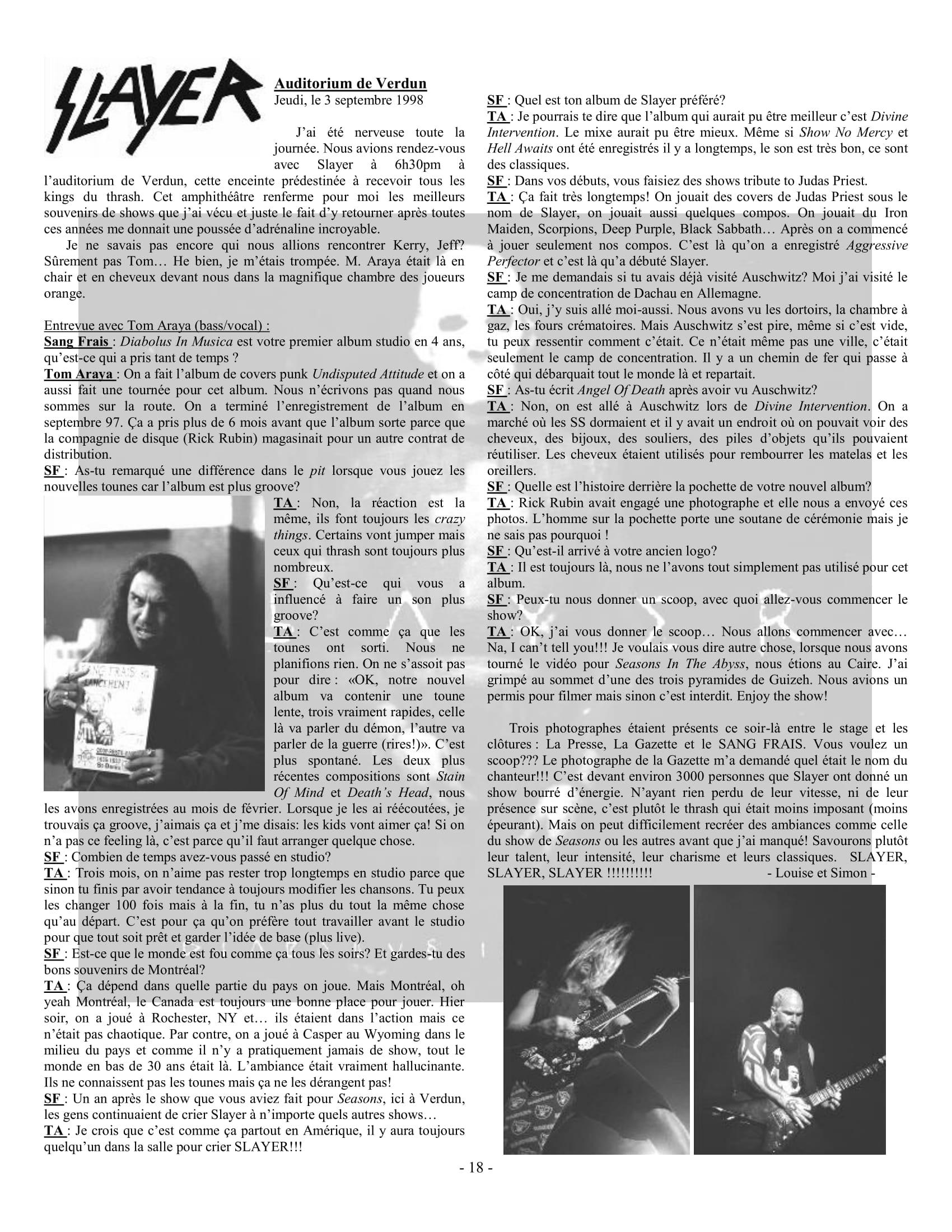 Interview SLAYER dans le fanzine SANG FRAIS Automne 1989 (archive à lire) Sf02-110
