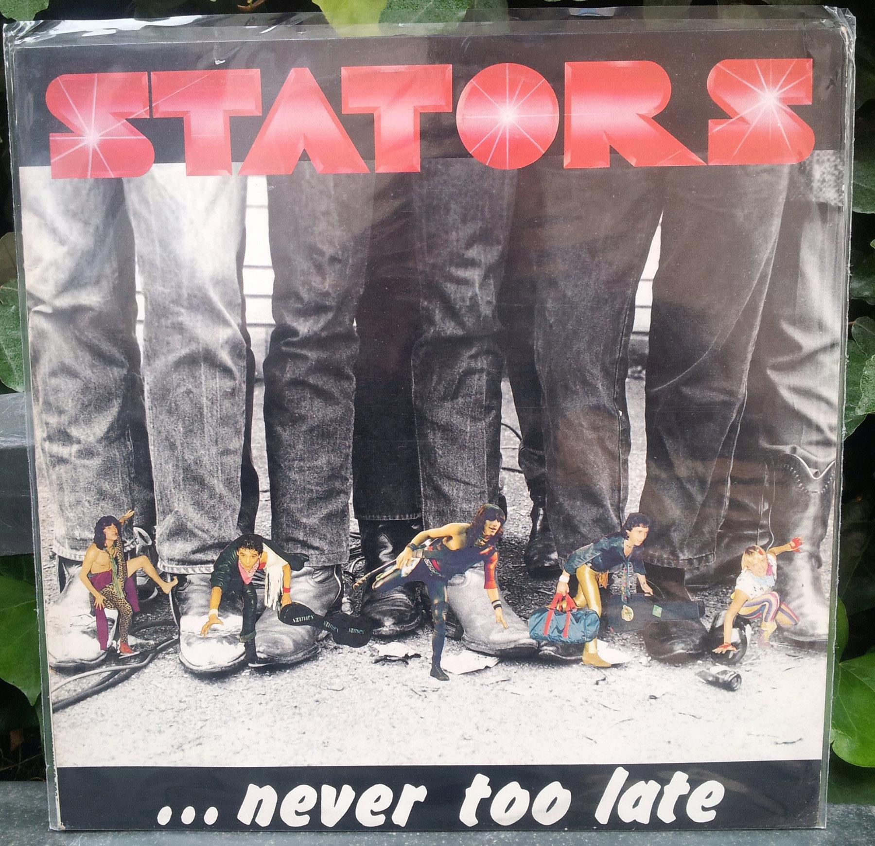 STATORS ... Never Too Late (1986) le vinyle vu de plus près ... Stator12
