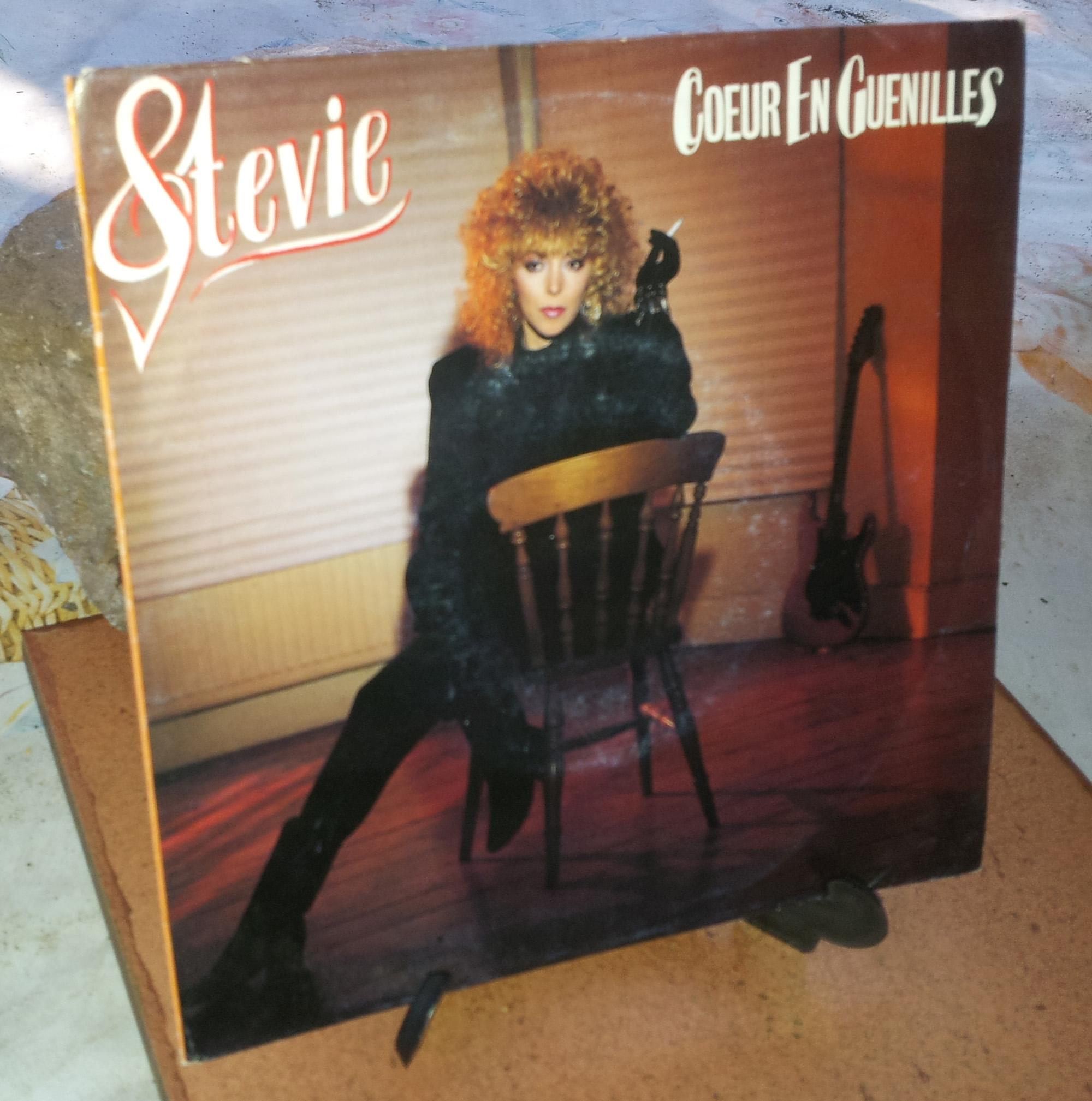 STEVIE Coeur en guenilles (1986) 45 tours - le vinyle vu de plus près ...  Stevie11