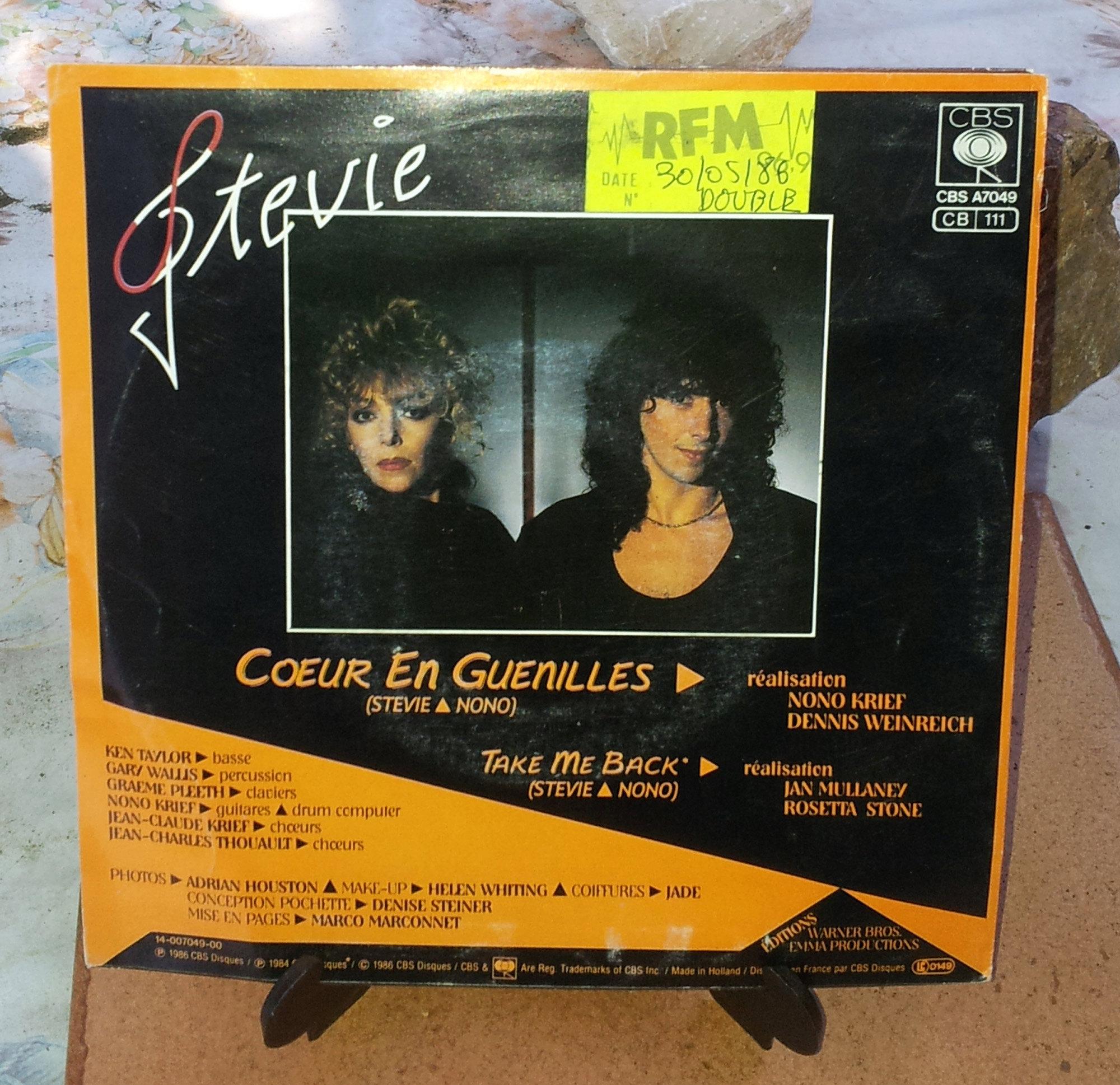 STEVIE Coeur en guenilles (1986) 45 tours - le vinyle vu de plus près ...  Stevie12