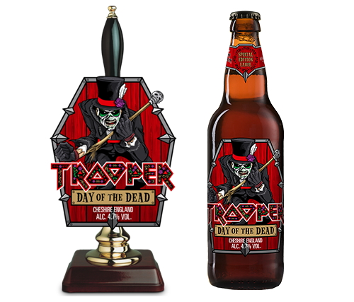 Nouvelle étiquette «Day Of The Dead» pour la bière TROOPER d'Iron Maiden en octobre 2019 Troope10