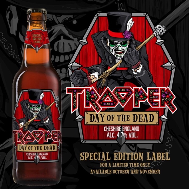 Nouvelle étiquette «Day Of The Dead» pour la bière TROOPER d'Iron Maiden en octobre 2019 Troope11