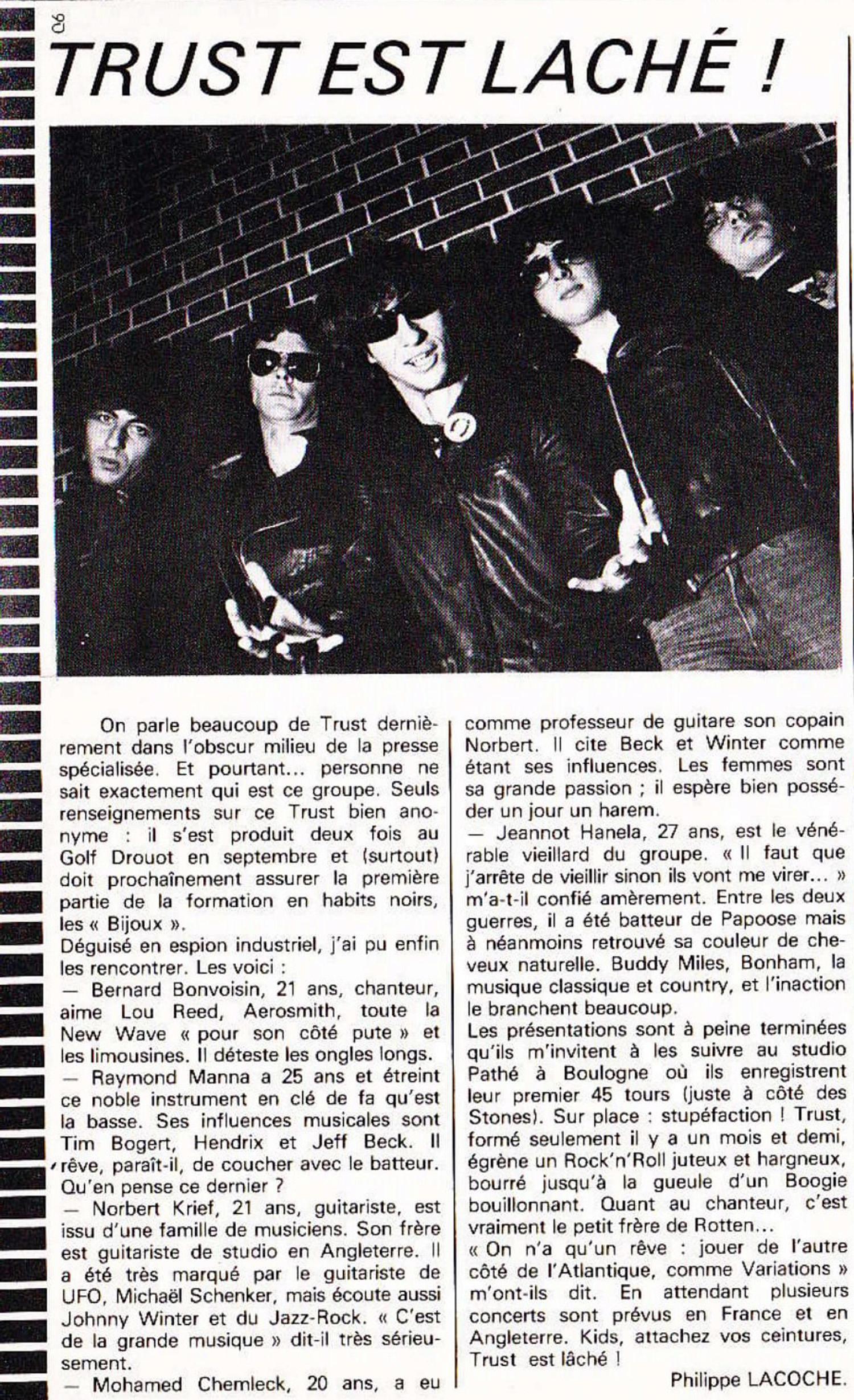 TRUST est lâché ! BEST N°113 Décembre 1977 (Archive à lire) Trust_25