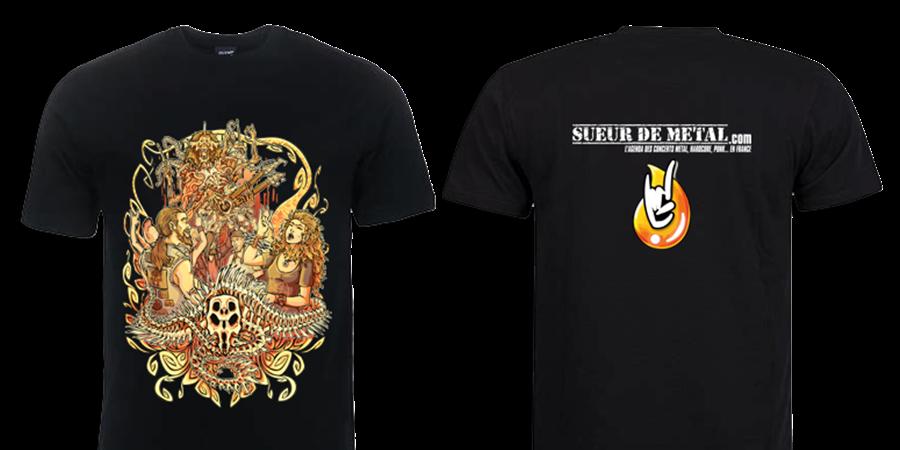 SUEUR DE METAL sort son tee-shirt pour ses 15 ans d'existance ... Tshirt10