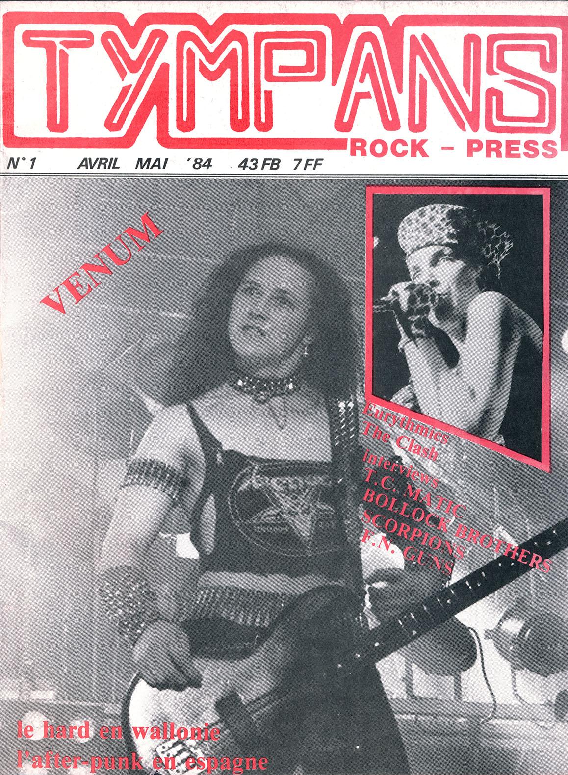 FM-GUNS interview dans le fanzine TYMPANS n°1 (1984) Archive Tympan14