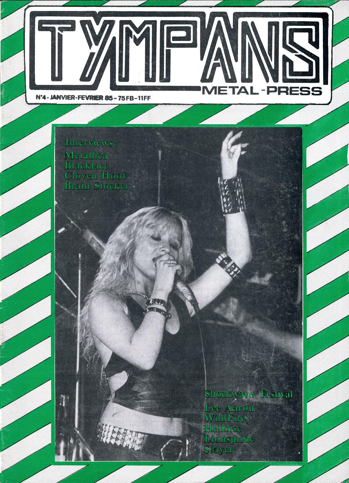 Interview METALLICA dans le Fanzine TYMPANS n°4 (Janvier-Février 1985) Tympan17