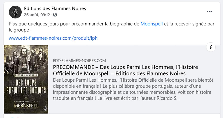 MOONSPELL Des loups parmi les hommes (Editions des Flammes Noires ) Septembre 2021 Untitl47