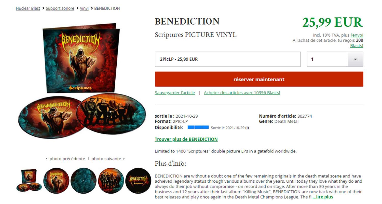 BENEDICTION Scriptures (2020) Death Metal ANGLETERRE Untitl48