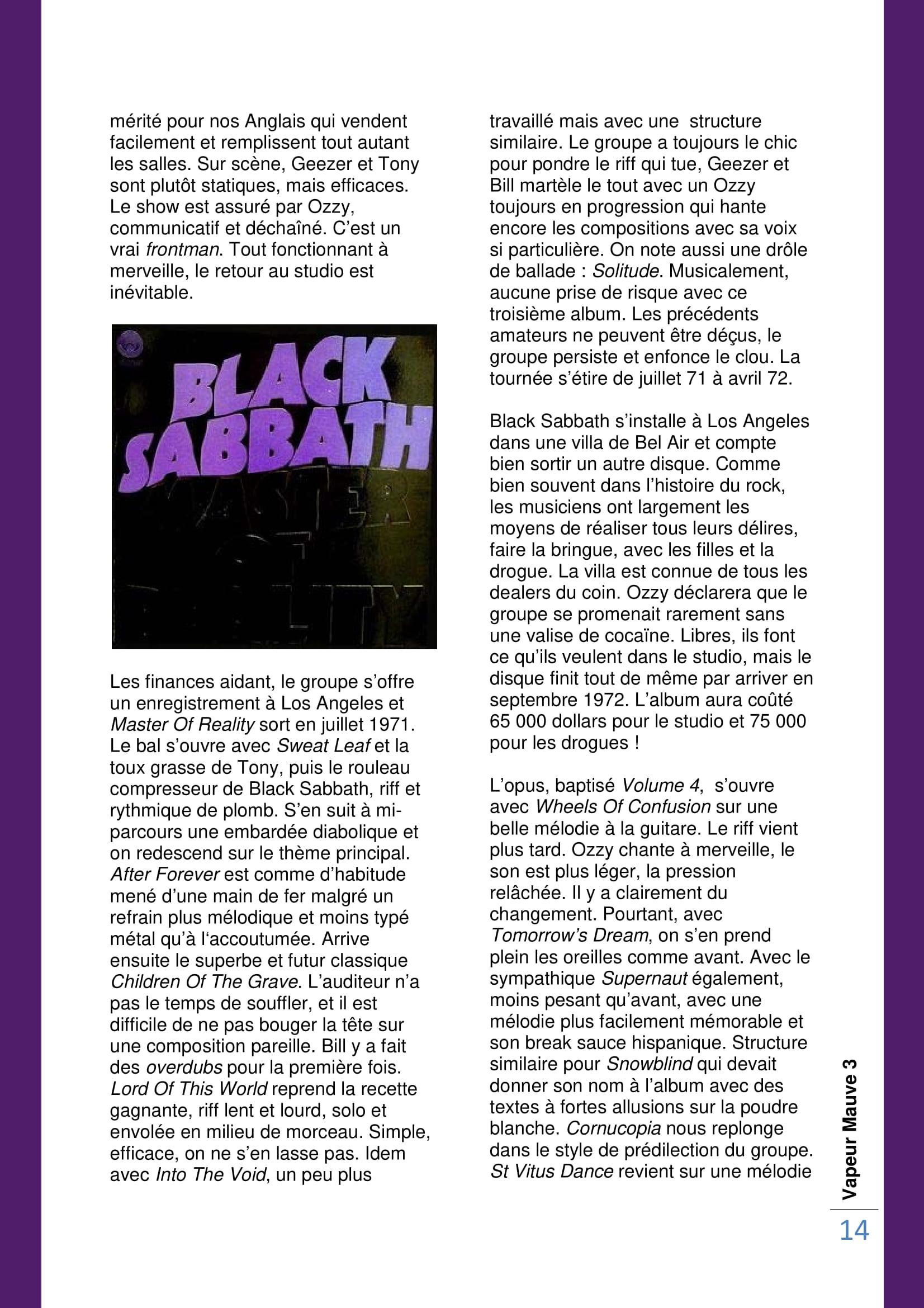BLACK SABBATH 1970/1973 (VAPEUR MAUVE N°3) Archive à lire Vapeur11