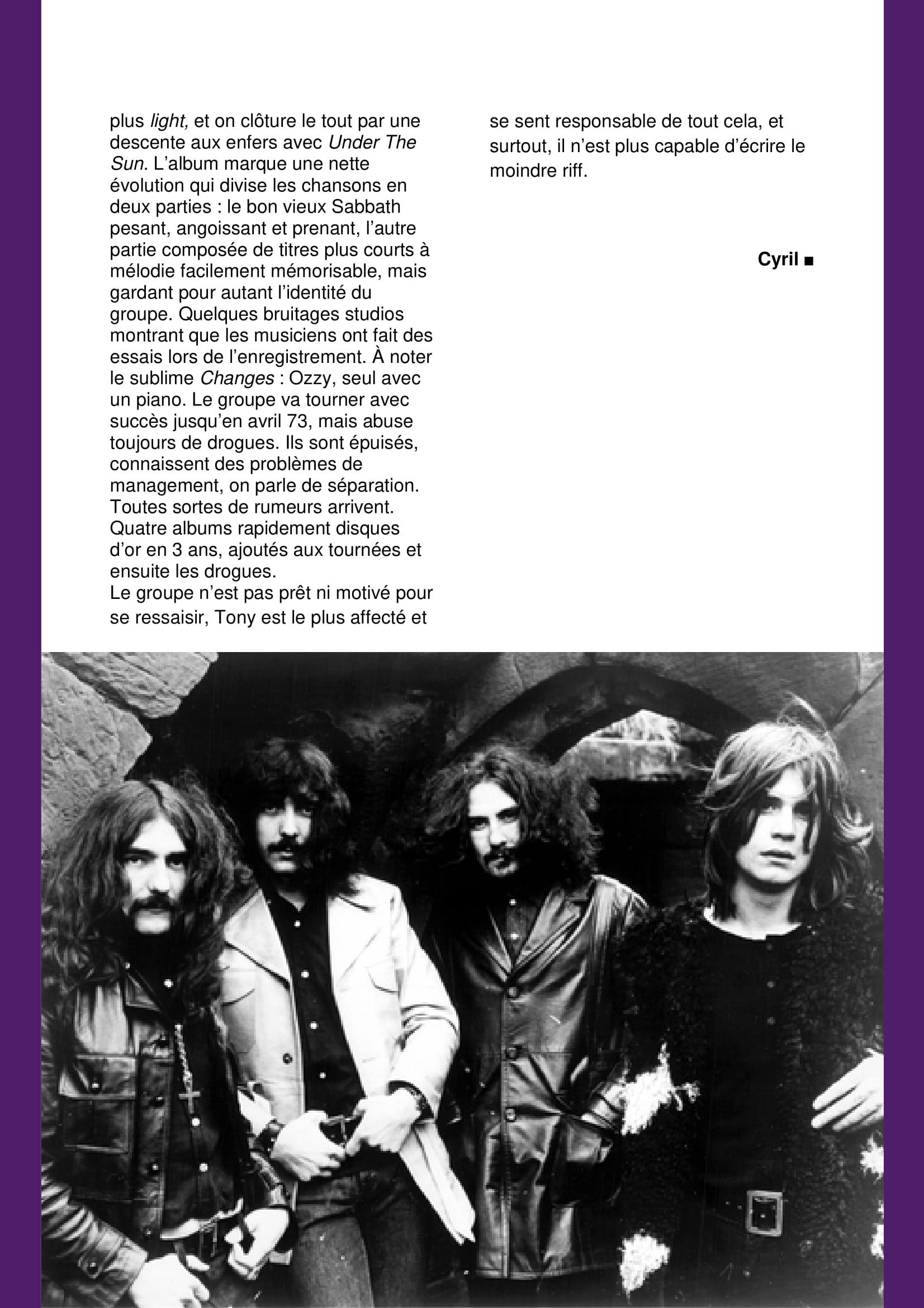 BLACK SABBATH 1970/1973 (VAPEUR MAUVE N°3) Archive à lire Vapeur13