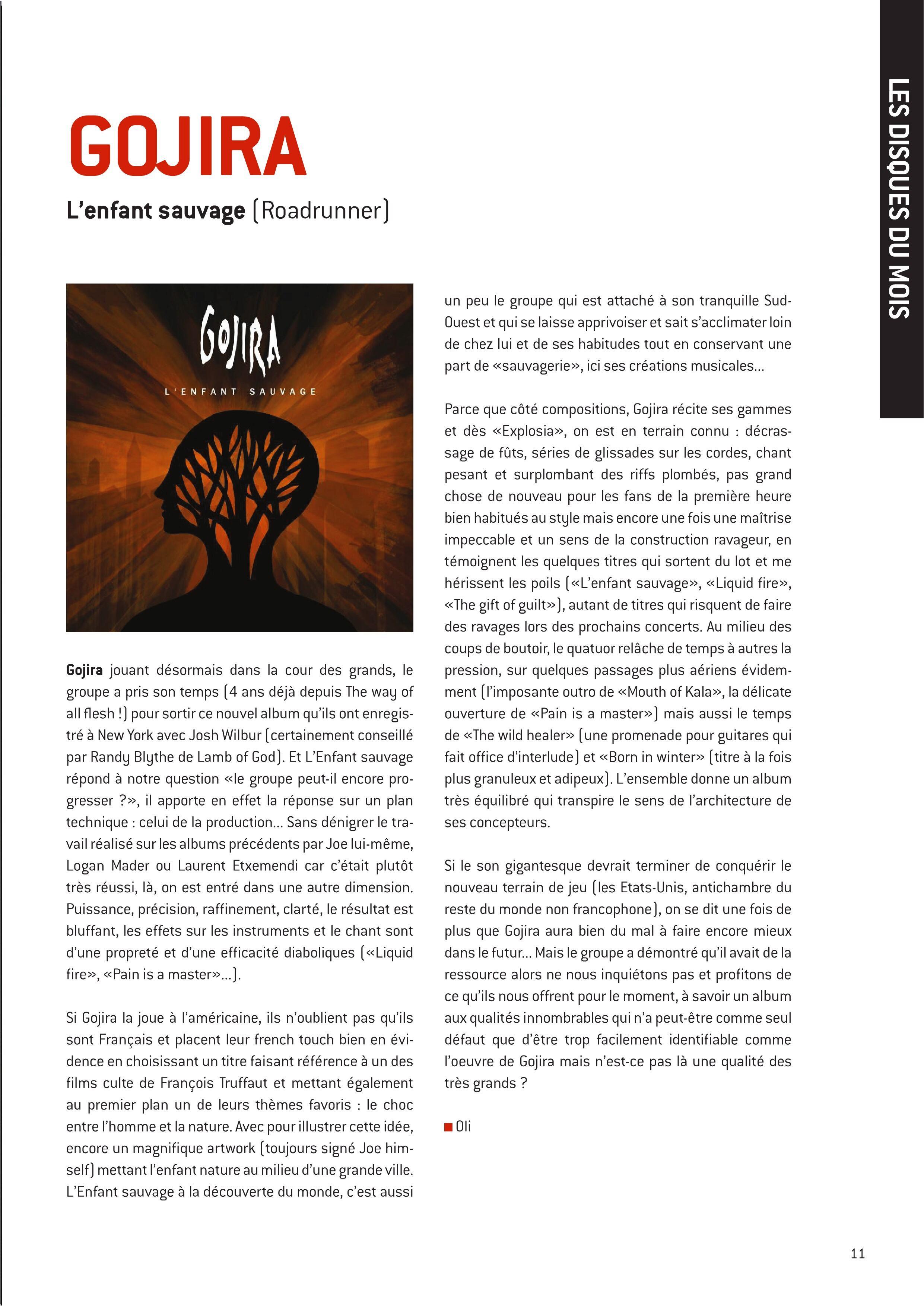 Chronique sur l'album de GOJIRA L'enfant sauvage (Archive à lire) W-fene54