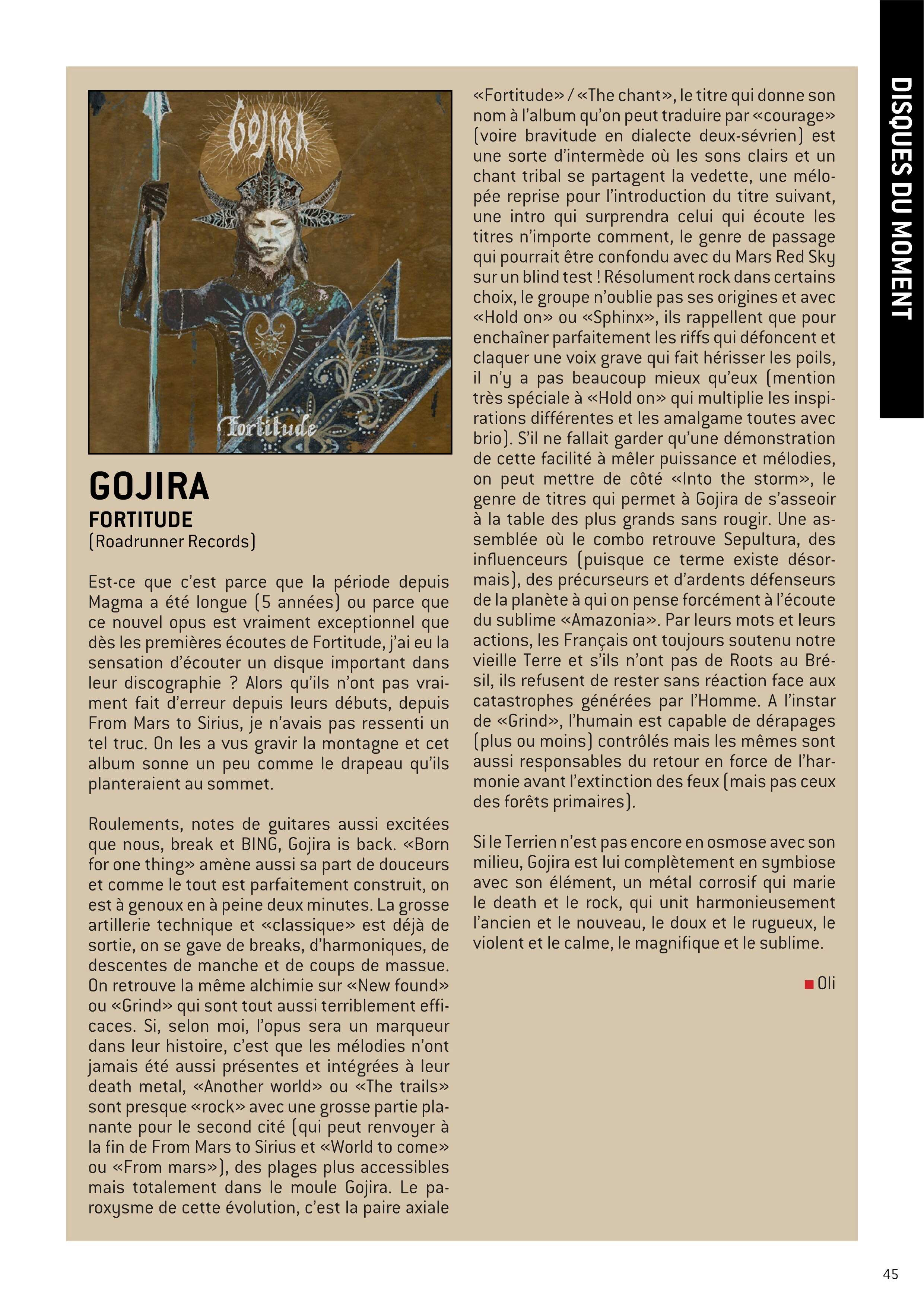 "GOJIRA ""fortitude"" avril 2021 W-fene72"