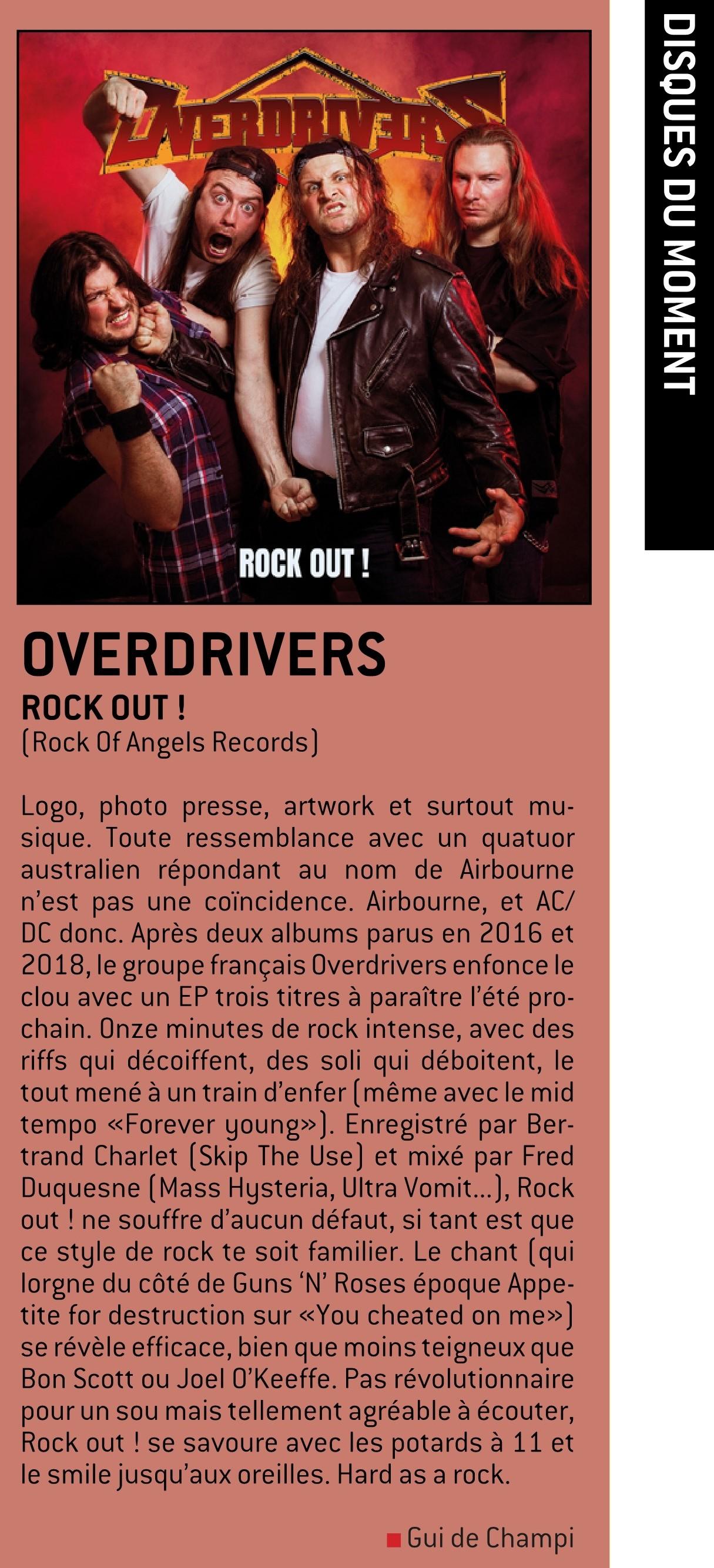 """OVERDRIVERS (Hard Rock) - un nouvel EP, intitulé """"Rock Out!"""", le 9 Juillet 2021 W-fene73"""
