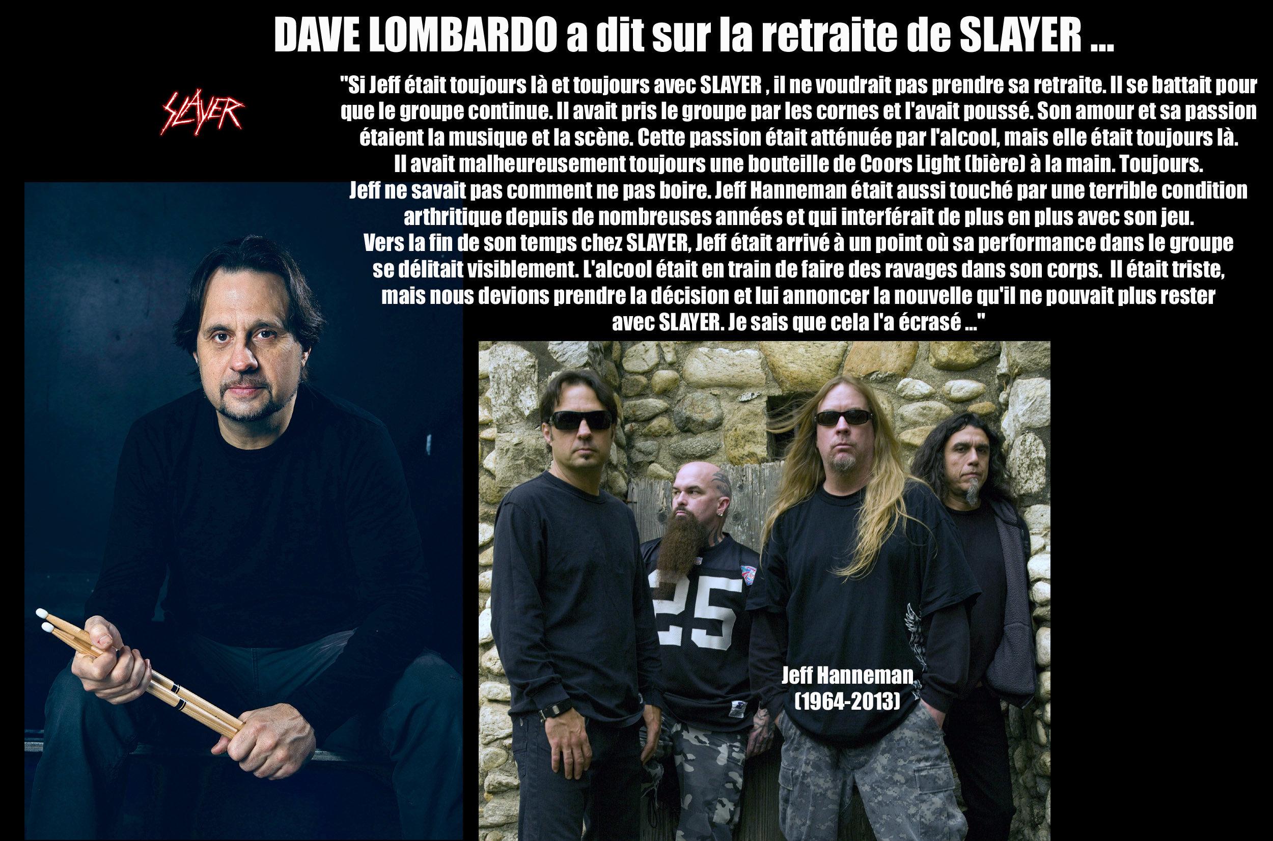 DAVE LOMBARDO a dit ... à propos de la retraite de SLAYER Zone_m14