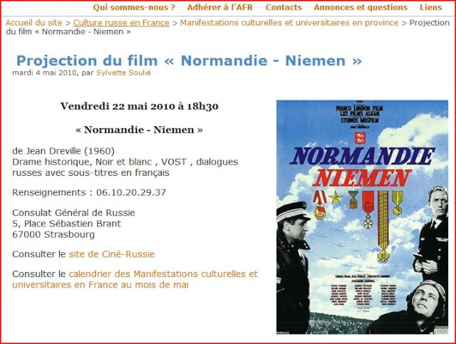 Projection Film Normandie-Niemen 22 05 2010 à Strasbourg Captur10