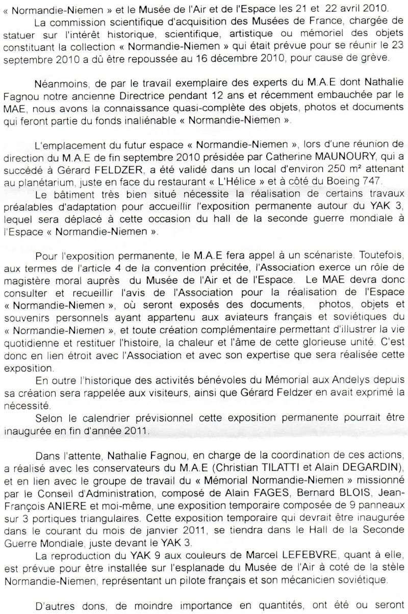 Fermeture et transfert du musée des Andelys Lettre11