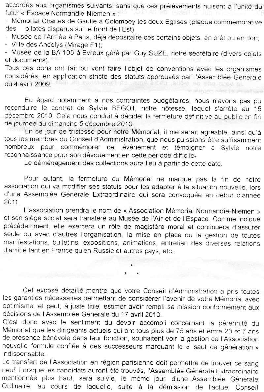 Fermeture et transfert du musée des Andelys Lettre12