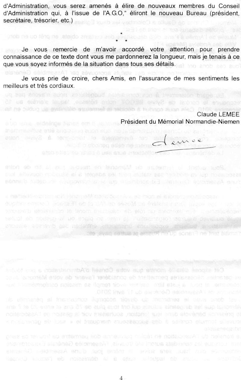 Fermeture et transfert du musée des Andelys Lettre13